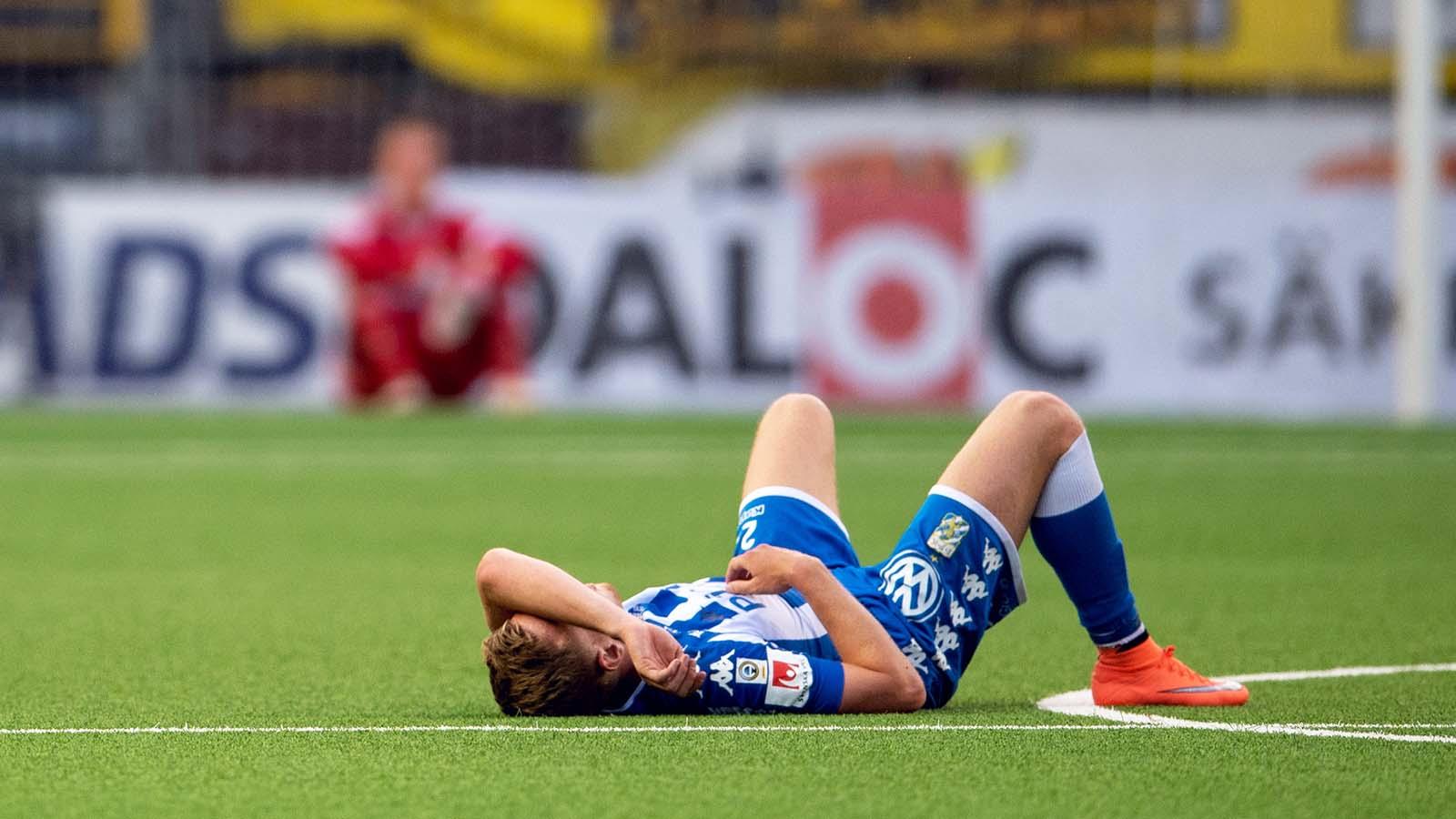 180521 IFK Göteborgs Sebastian Ohlsson deppar efter fotbollsmatchen i Allsvenskan mellan Elfsborg och IFK Göteborg den 21 maj 2018 i Borås. Foto: Carl Sandin / BILDBYRÅN / kod CS / 57999_353