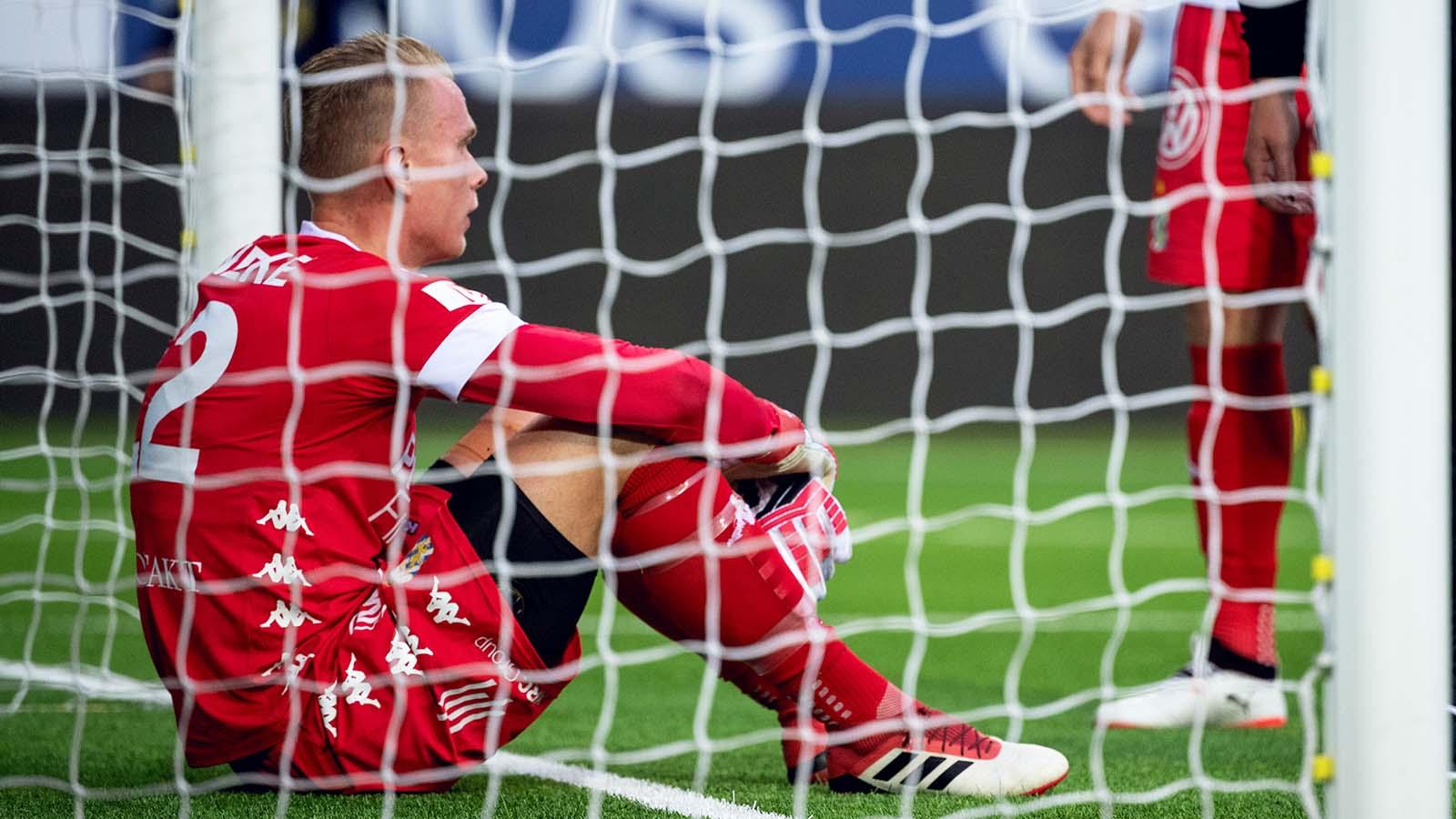 180521 IFK Göteborgs målvakt Pontus Dahlberg deppar efter fotbollsmatchen i Allsvenskan mellan Elfsborg och IFK Göteborg den 21 maj 2018 i Borås. Foto: Jörgen Jarnberger / BILDBYRÅN / Kod JJ / Cop 112