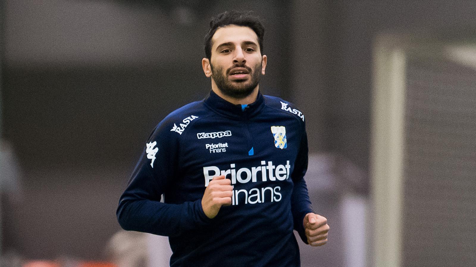 180117 André Calisir under en träning med IFK Göteborg den 17 januari 2018 i Göteborg.