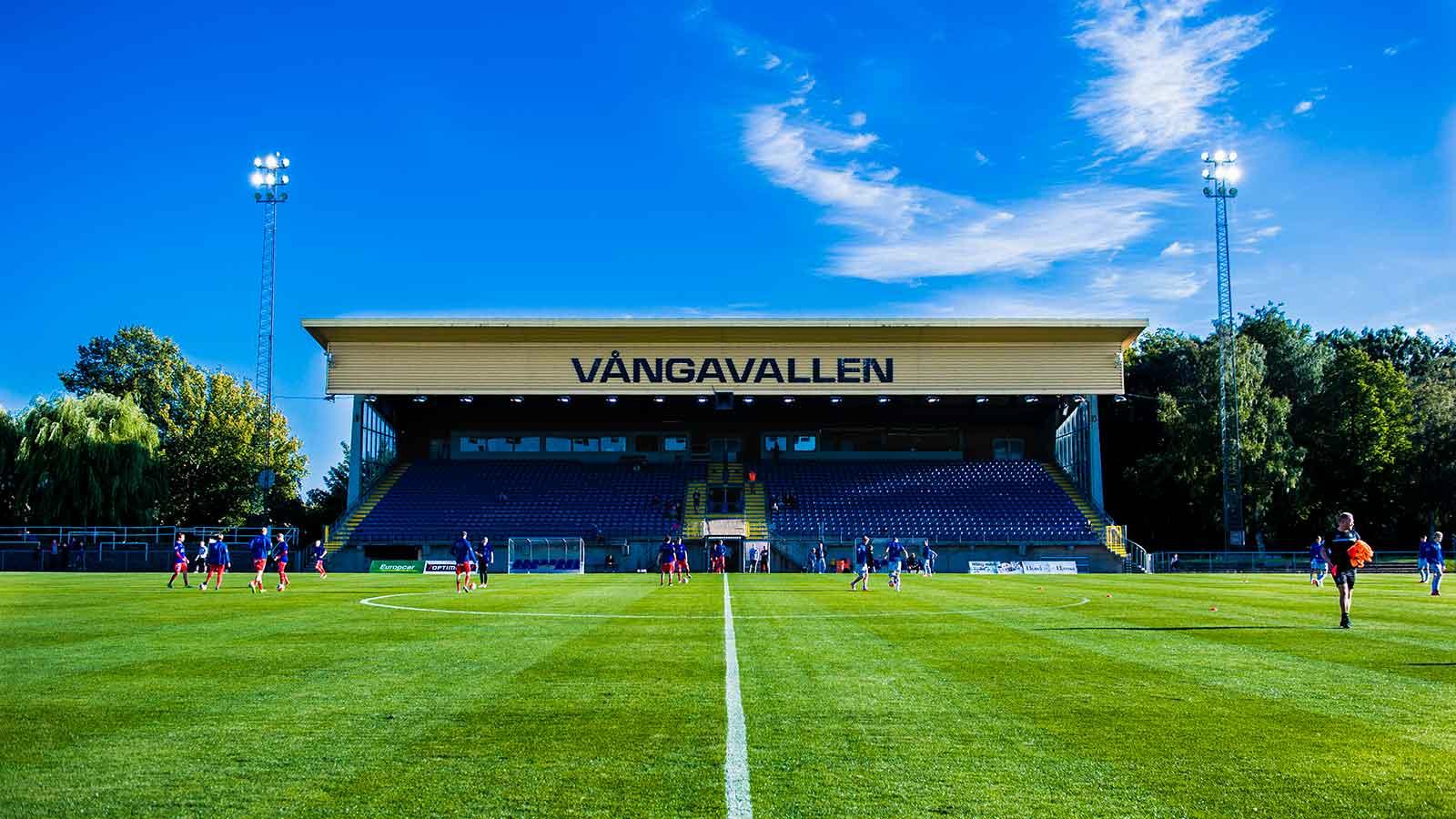 160815 Exteriör över vångavallen inför fotbollsmatchen i Superettan mellan Trelleborg och Åtvidaberg den 2016 i Trelleborg.