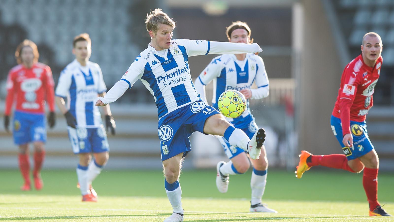 180224 IFK Göteborgs Mikael Ingebrigtsen under en fotbollsmatch i Svenska Cupen mellan IFK Göteborg och Öster den 24 februari 2018 i Göteborg. Foto: Michael Erichsen / BILDBYRÅN / Cop 89