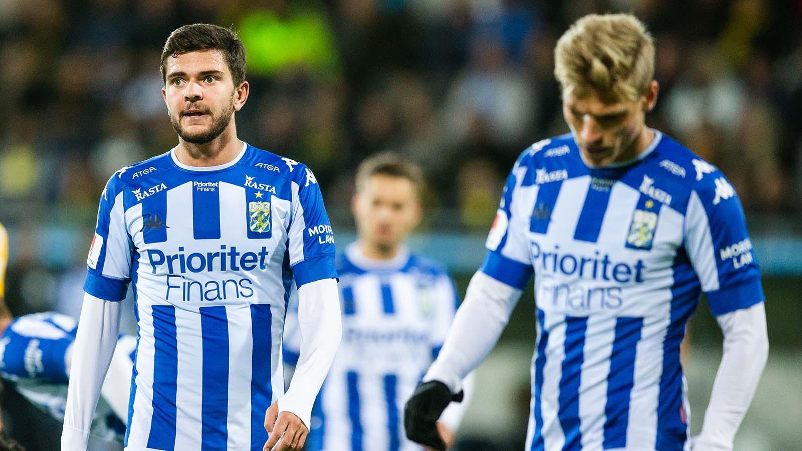 180924 IFK Göteborgs Fredrik Oldrup Jensen deppar under fotbollsmatchen i allsvenskan mellan Häcken och IFK Göteborg den 24 september 2018 i Göteborg. Foto: Michael Erichsen / BILDBYRÅN / Cop 89