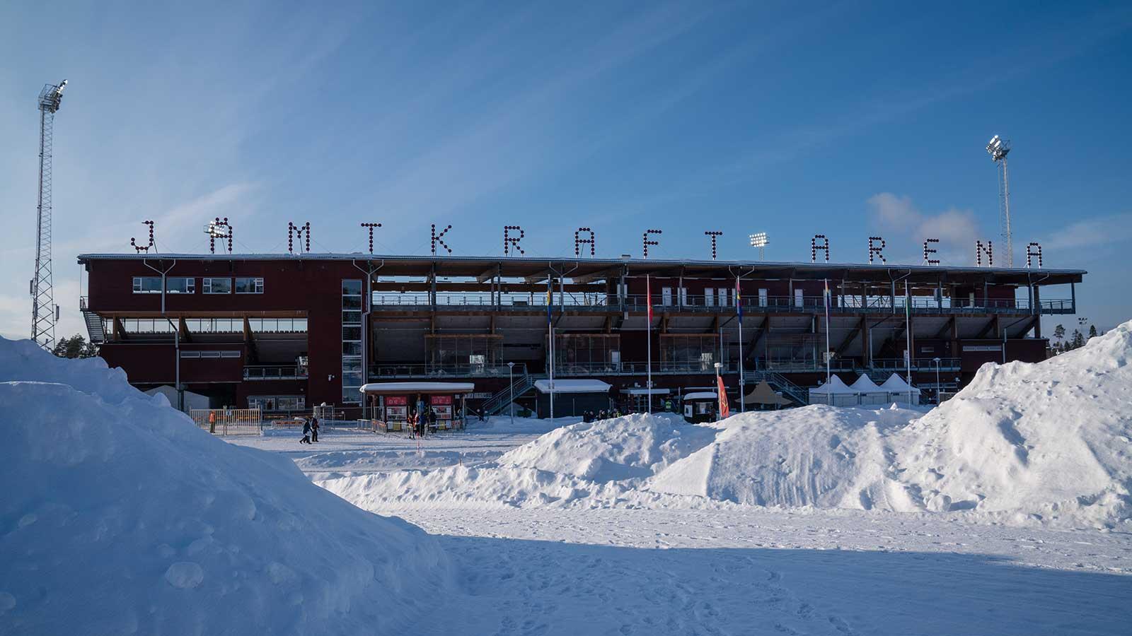 180311 Jämtkraft Arena inför fotbollsmatchen i Svenska Cupen mellan Östersund och GAIS den 11 mars 2018 i Östersund.