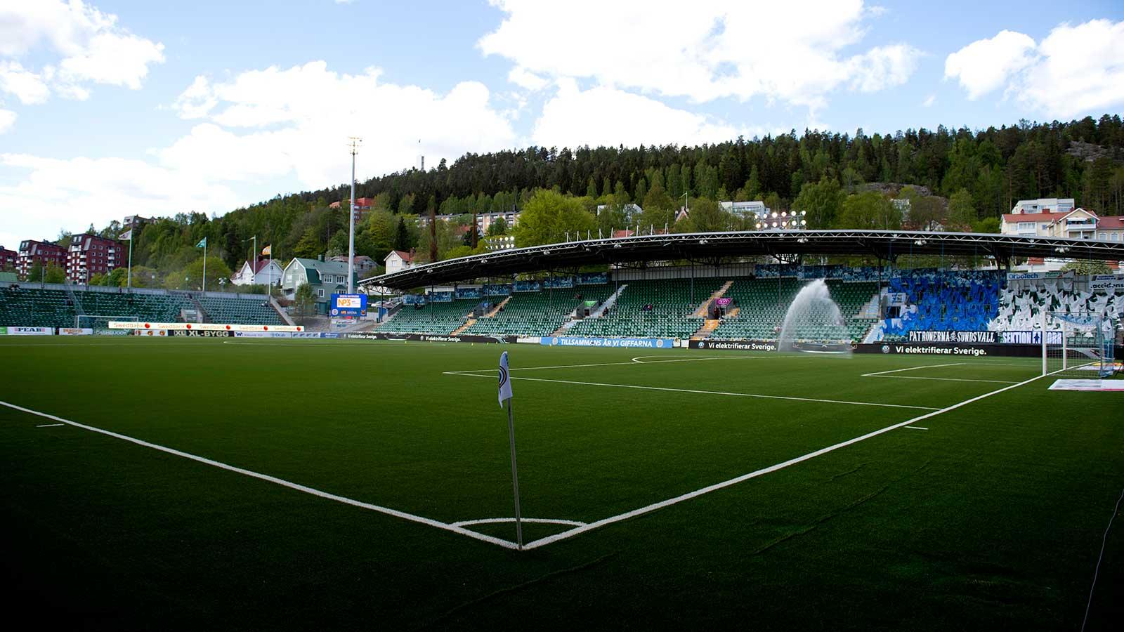 180519 NP3 Arena innan fotbollsmatchen i Allsvenskan mellan GIF Sundsvall och Östersund den 19 maj 2018 i Sundsvall.