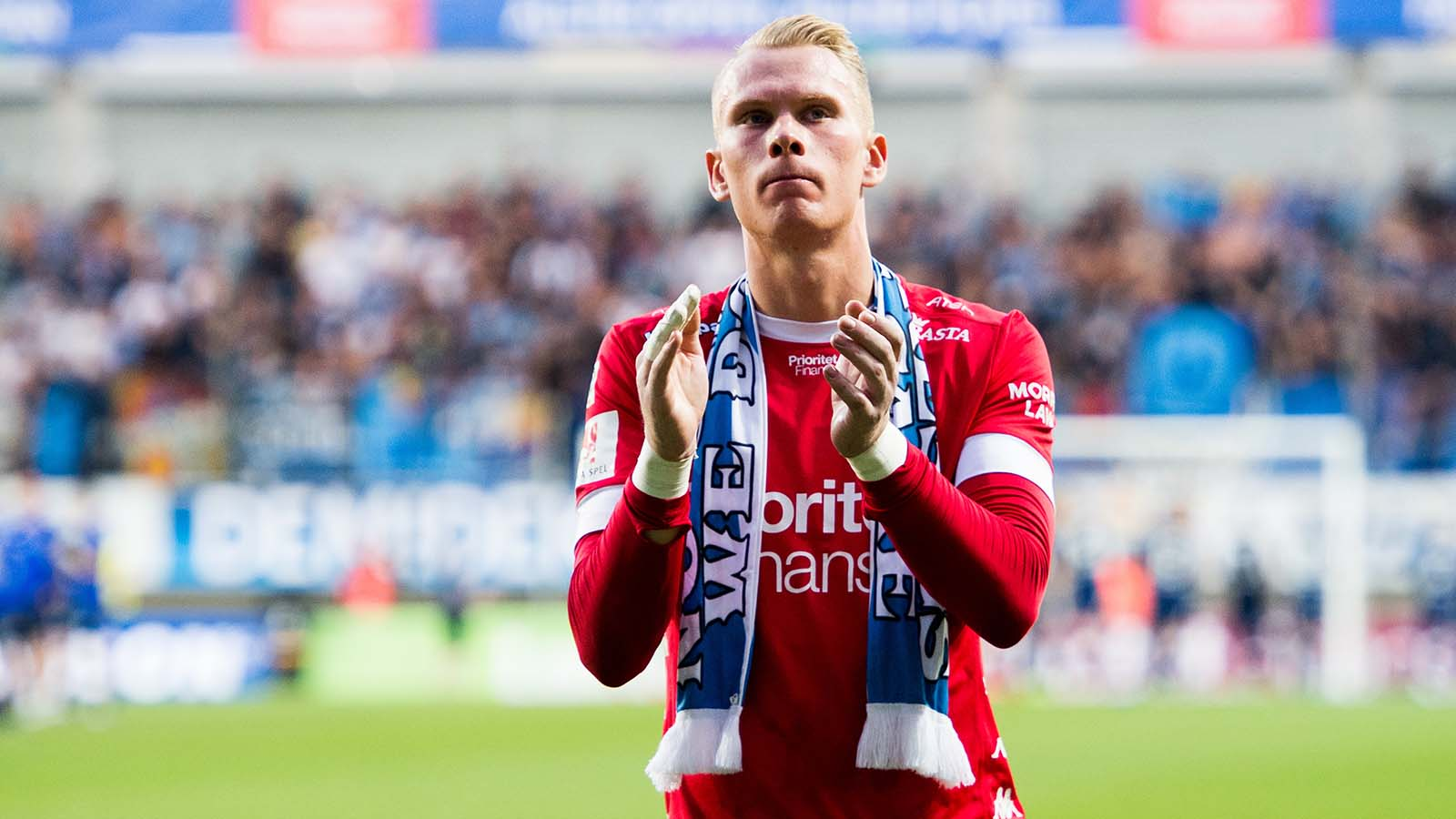 180524 IFK Göteborgs målvakt Pontus Dahlberg efter fotbollsmatchen i Allsvenskan mellan IFK Göteborg och Djurgården den 24 maj 2018 i Göteborg. Foto: Carl Sandin / BILDBYRÅN / kod CS / 57999_356