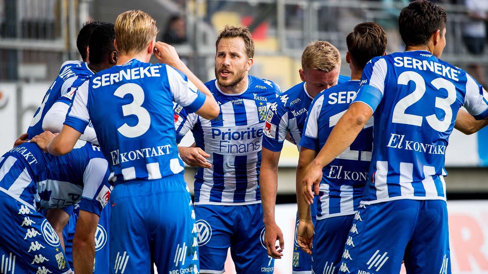 180714 IFK Göteborgs Tobias Hysén efter 1-0 under fotbollsmatchen i Allsvenskan mellan IFK Göteborg och Örebro den 14 juli 2018 i Göteborg. Foto: Krister Andersson / BILDBYRÅN / Kod KA / Cop 147