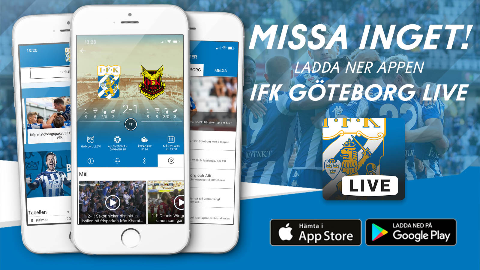 Nu byter vi till IFK Göteborg Live