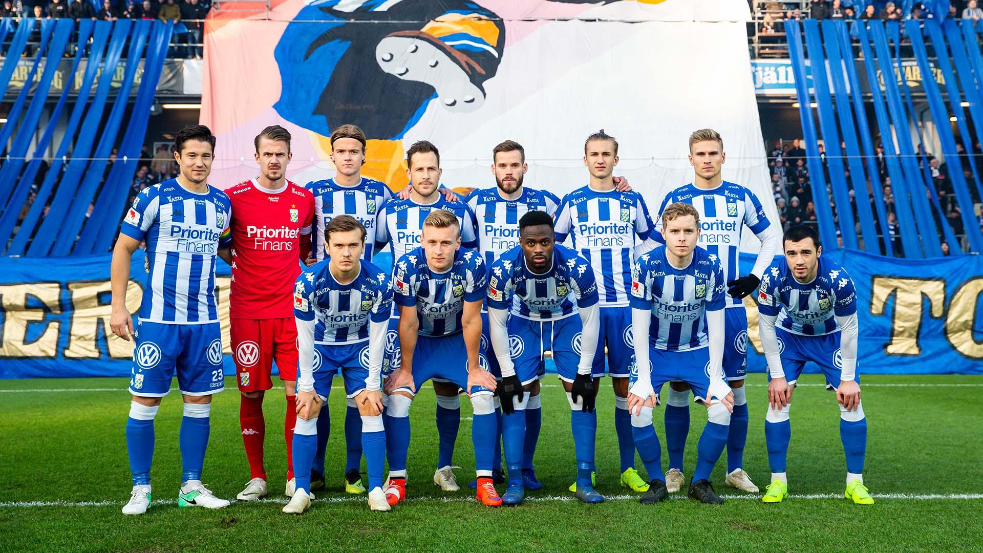 181104 IFK Göteborgs spelare poserar för ett lagfoto inför fotbollsmatchen i Allsvenskan mellan IFK Göteborg och Malmö FF den 4 november 2018 i Göteborg. Foto: Michael Erichsen / BILDBYRÅN / Cop 89 / 57999_407