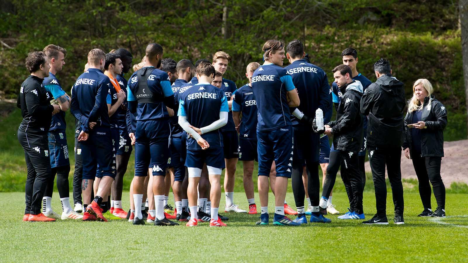 Truppen mot Malmö FF